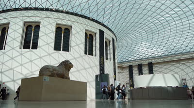 stock-footage-london-august-british-museum-great-court-wide-angle